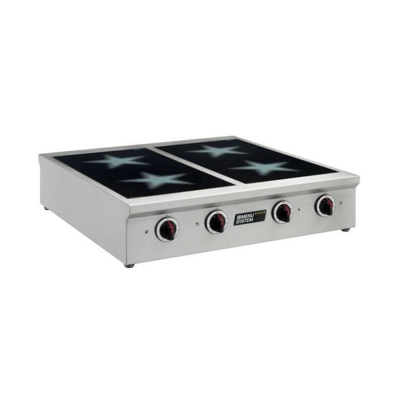 4 plate table top commercial induction oven