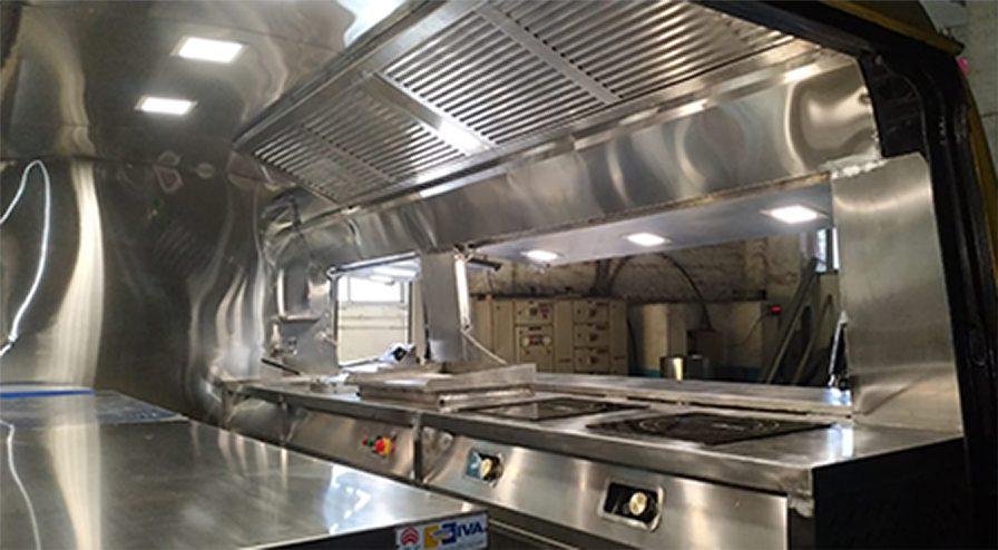 food truck inside