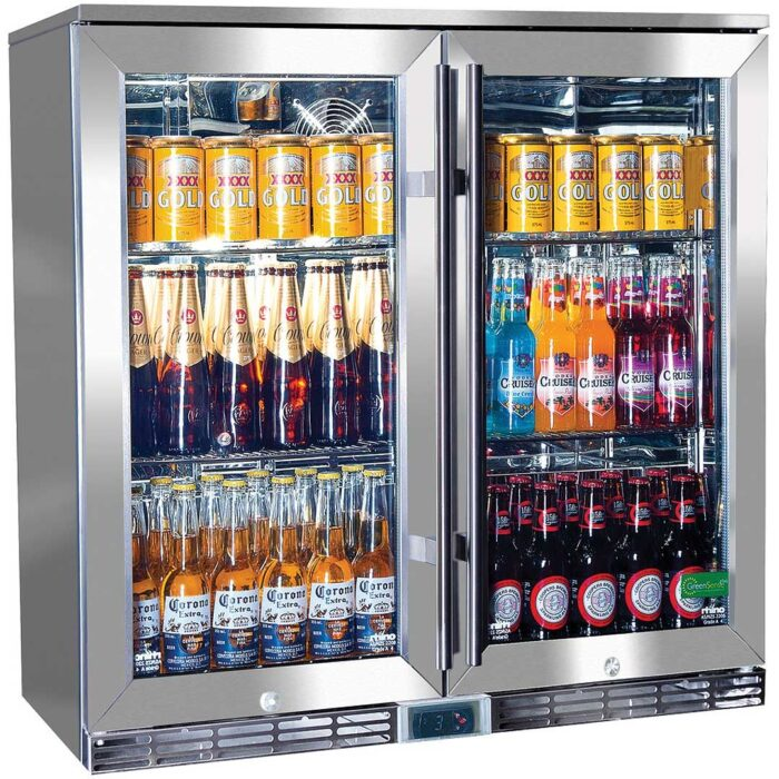 two door back with bar chiller