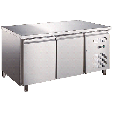 two door under counter chiller freezer-Large