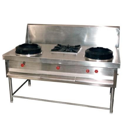 two plus one chinese cooking range-Large