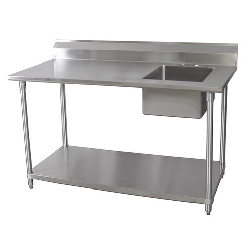 work table with single sink